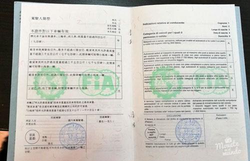 permiso de conducción internacional