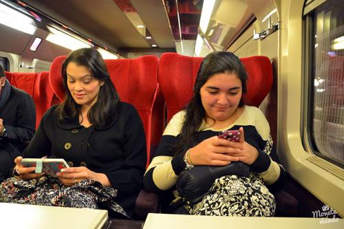 en tren por Europa